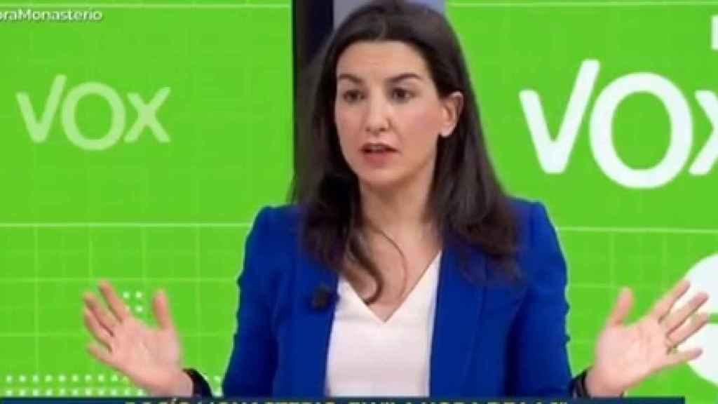 La líder de Vox en la Asamblea de Madrid, Rocío Monasterio, este lunes en TVE.