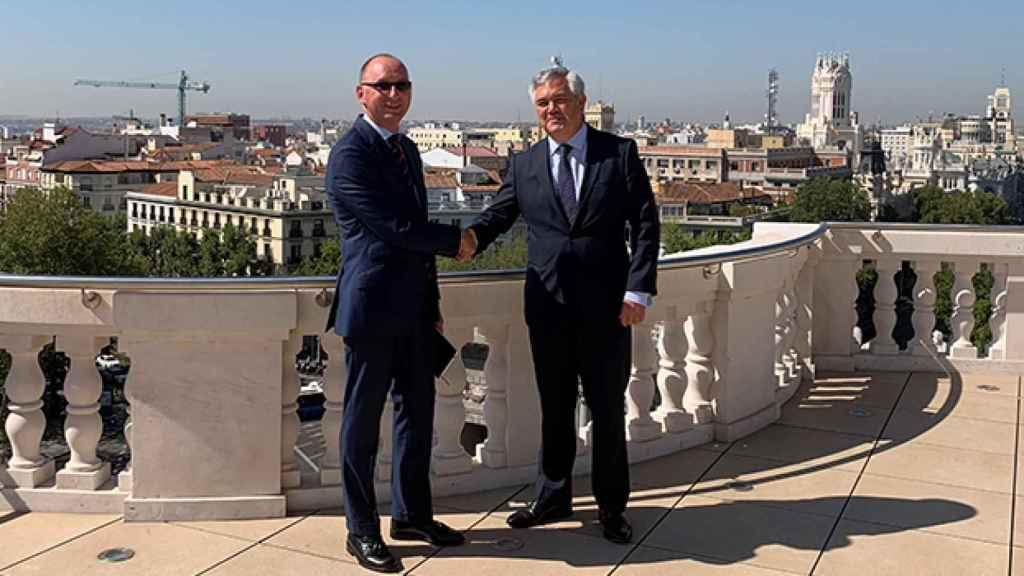 José Luis Jiménez (Mapfre) y Santiago Satrústegui (Abante).