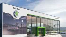 Imagen de un concesionario de coches de la marca Skoda, del Grupo Volkswagen.
