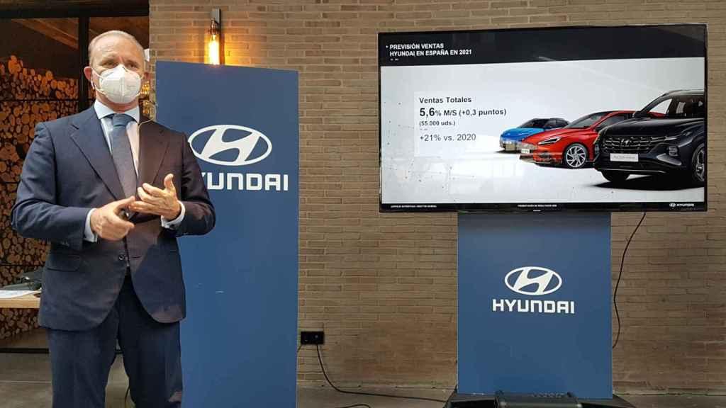 Leopoldo Satrústegui, director general de Hyundai, en la presentación.