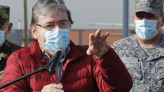 El ministro de Defensa de Colombia, Carlos Holmes Trujillo.