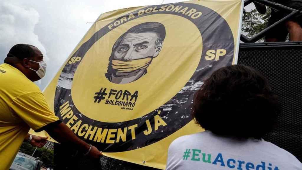 Manifestaciones pidiendo el 'impeachment' del presidente de Brasil.