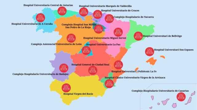 El mapa de los hospitales con más negligencias por comunidad autónoma en 2020