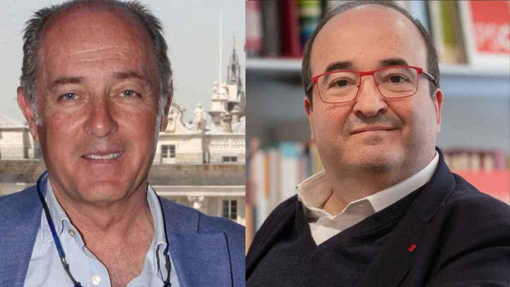 José Manuel Soto y Miquel Iceta en un fotomontaje.