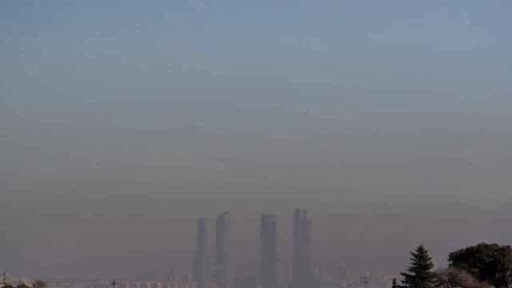 Imagen de Madrid con poca visibilidad.