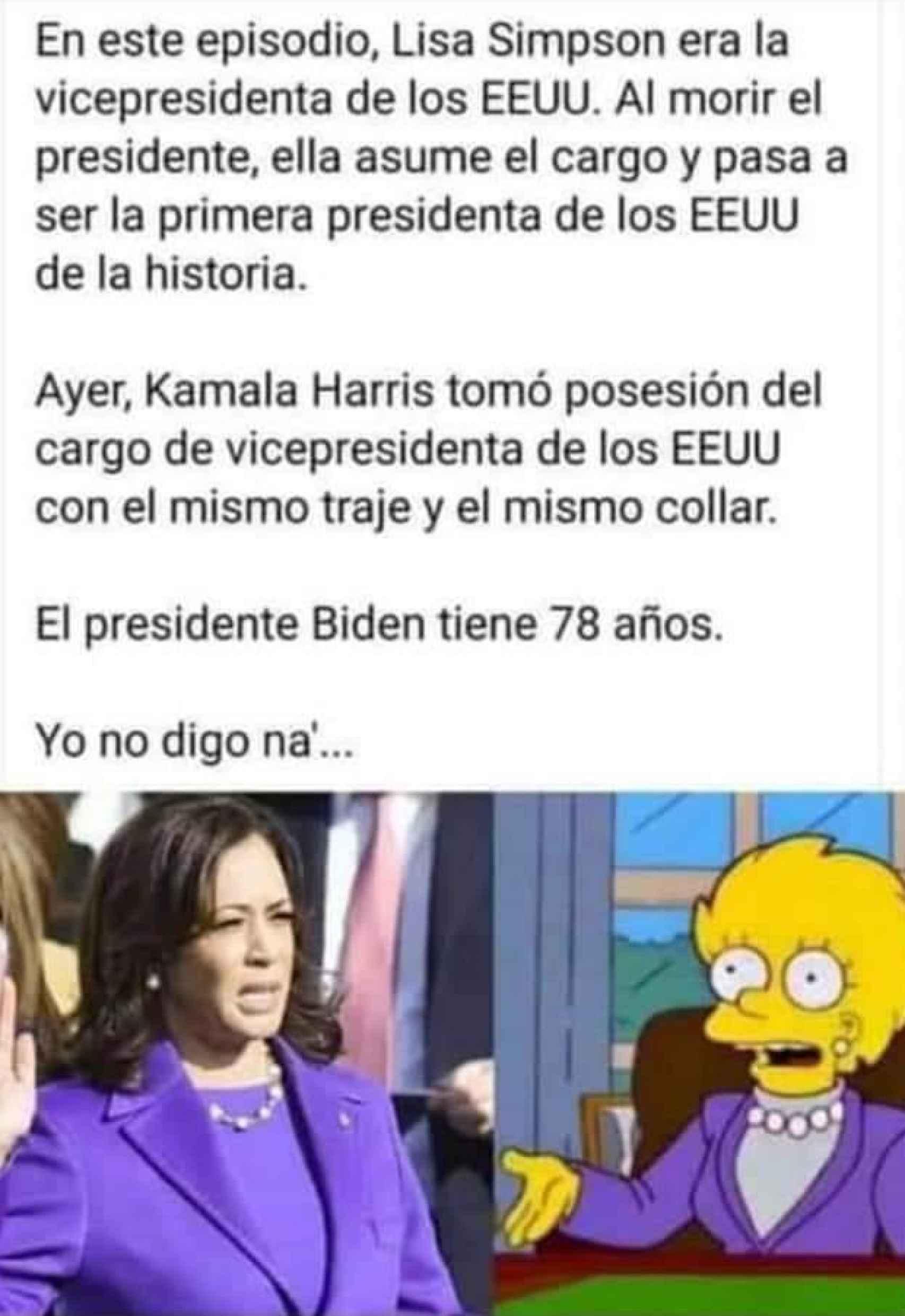El meme sobre Lisa y Kamala.