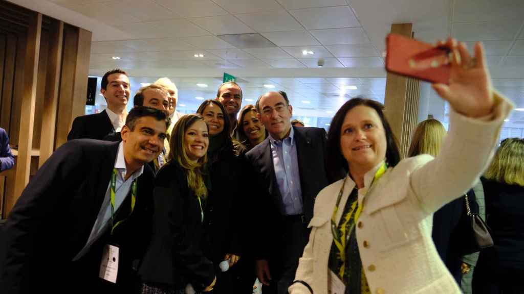 El presidente de Iberdrola, Ignacio Galán, durante un encuentro con empleados en 2019.