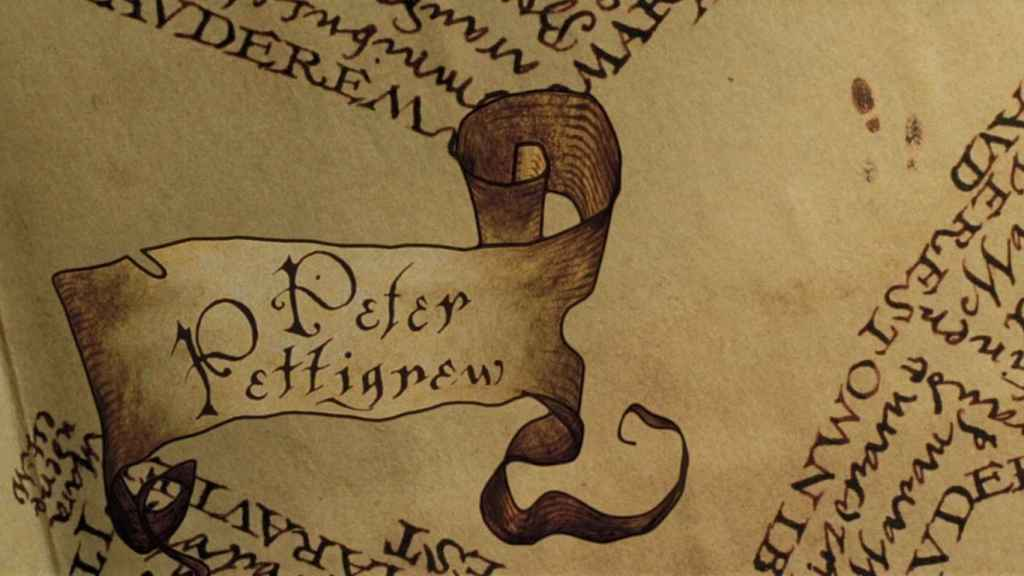 El mapa de los merodeadores apareció en el tercer libro de la saga de Harry Potter.