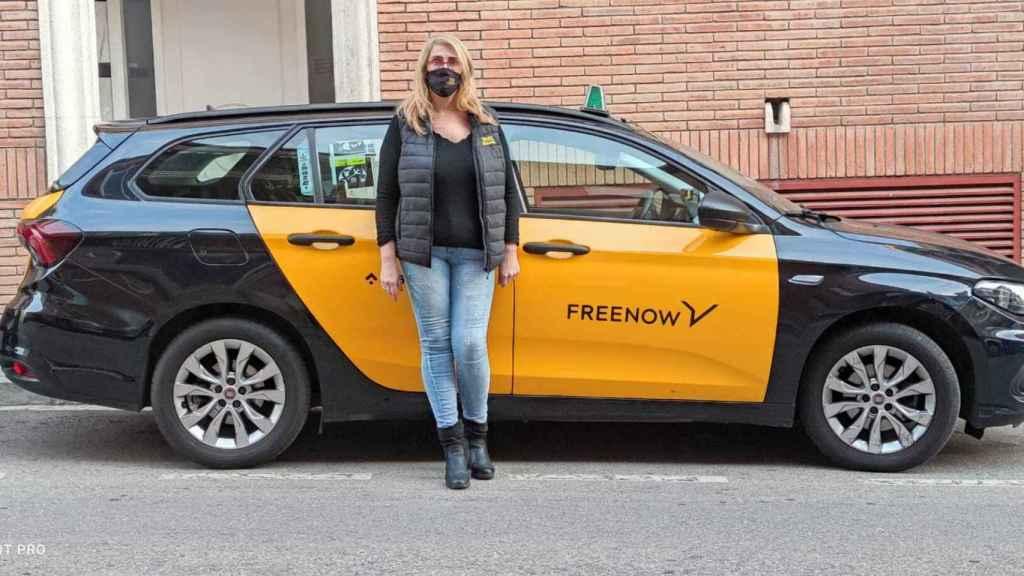 Eva Camacho, taxista de  Free Now y una de las participantes en este reportaje.