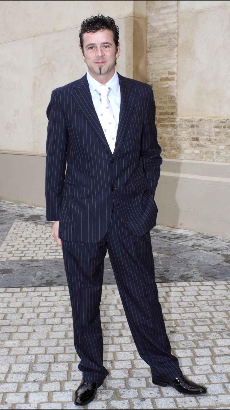 Javito en la boda de su compañera Patricia Ledesma en 2008 en Sevilla.
