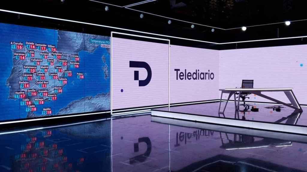 Imagen del nuevo decorado del 'Telediario' adelantada por TVE.