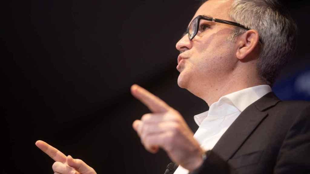 Víctor Font, durante una rueda de prensa