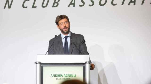 Andrea Agnelli, durante un acto de la Asociación Europea de Clubes (ECA)