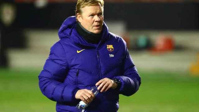 Ronald Koeman, en un partido de la Copa del Rey del Barcelona