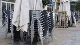 Establecimiento hosteleros cerrado por las restricciones. Foto: EP