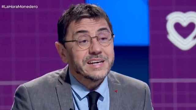 Imagen de archivo de Juan Carlos Monedero, fundador de Podemos, en TVE.