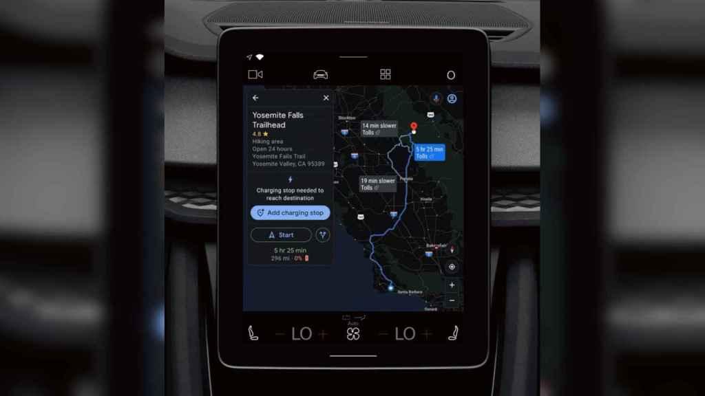 Google Maps permitirá calcular la ruta de un coche eléctrico