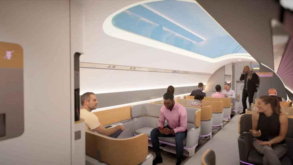 Interior de un posible Hyperloop para pasajeros