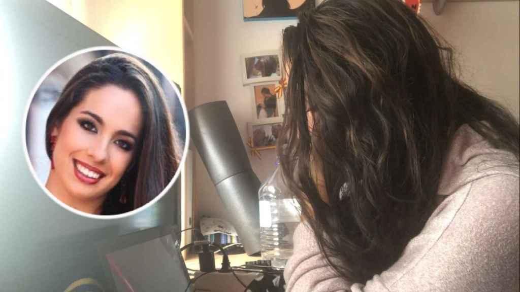 Miriam González, la teleoperadora despedida por dar positivo en Covid, confinada en su cuarto.