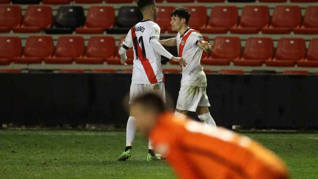 Fran García celebra su gol contra el Barcelona