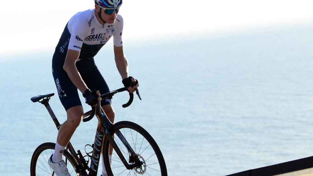 Chris Froome, con el maillot del Israel Start-Up Nation