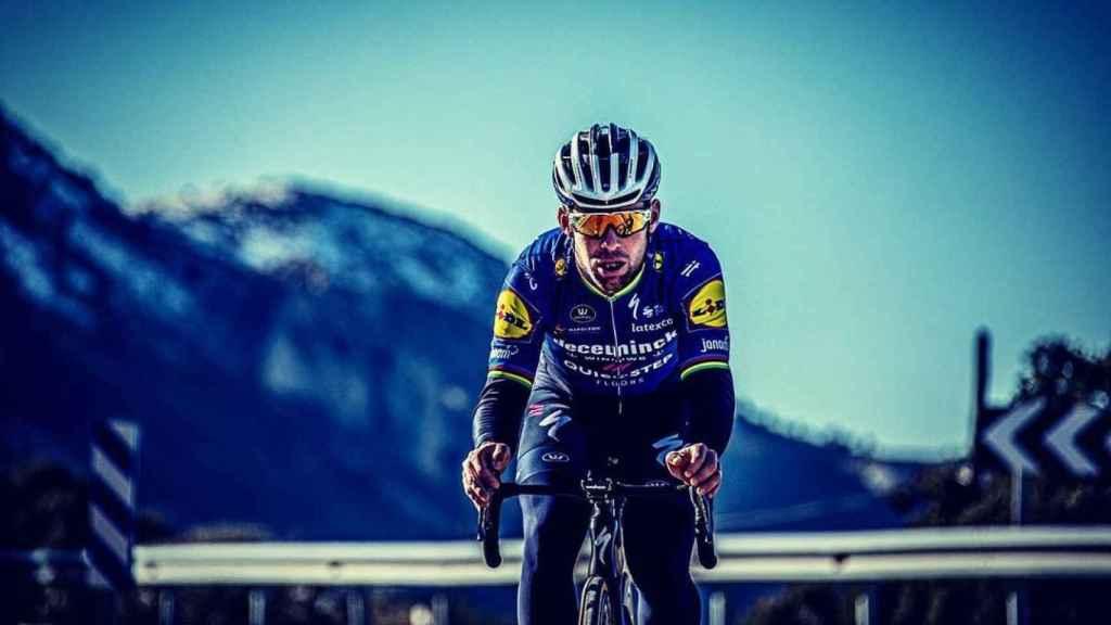 Mark Cavendish, con el maillot del Deceuninck - QuickStep