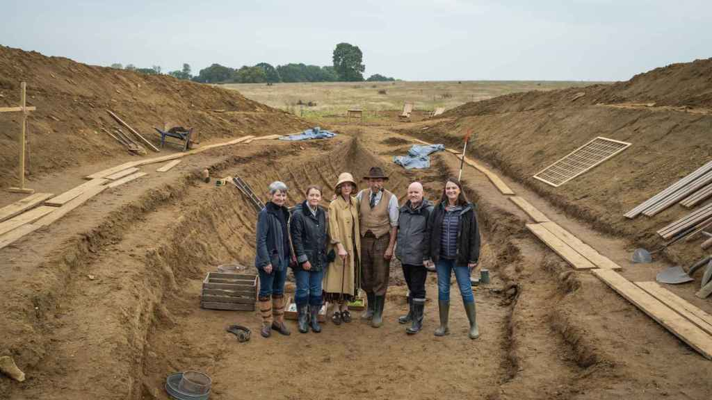 Rodaje de la película 'La excavación'.