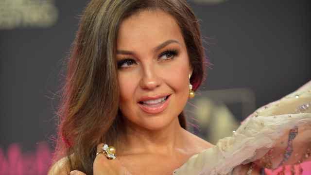 Thalía en unos premios de la música latina en Florida.