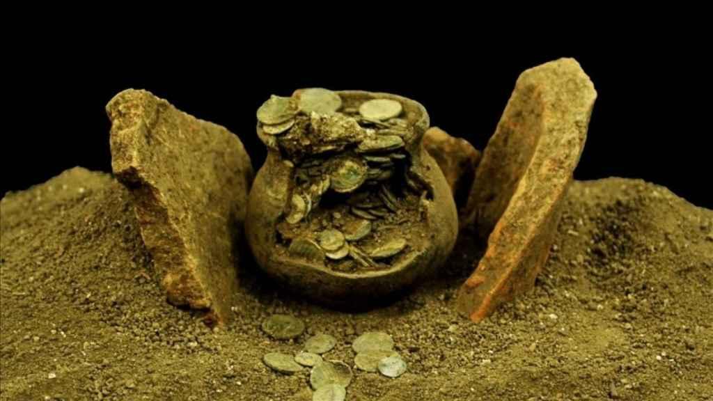 La colección de monedas encontrada en Aizanoi.