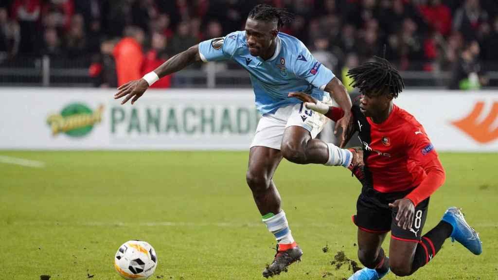 Camavinga en un partido contra la Lazio