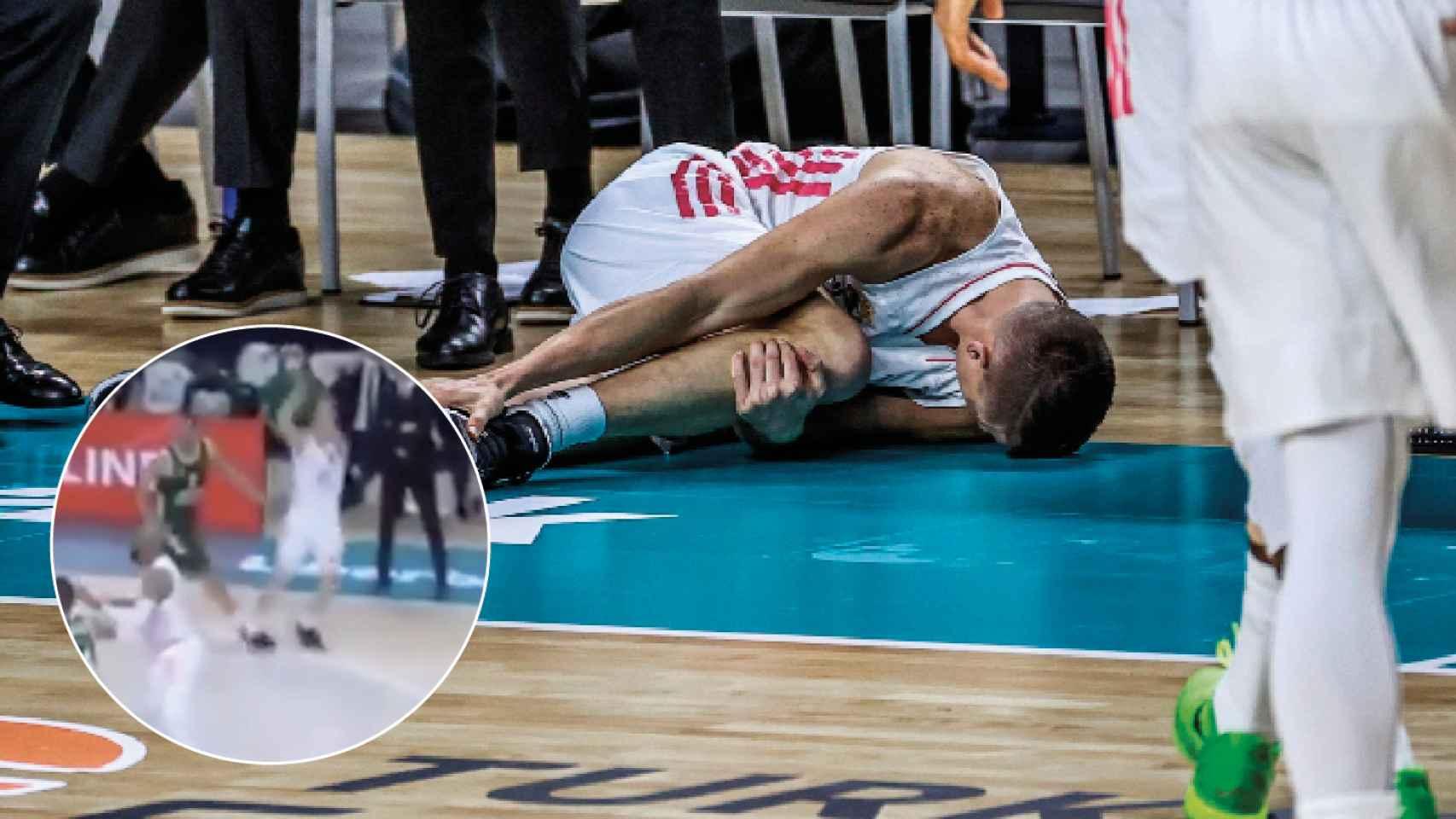 """El jugador que lesionó a Carroll carga contra Laso por sus palabras: """"Es  pequeño como persona"""""""