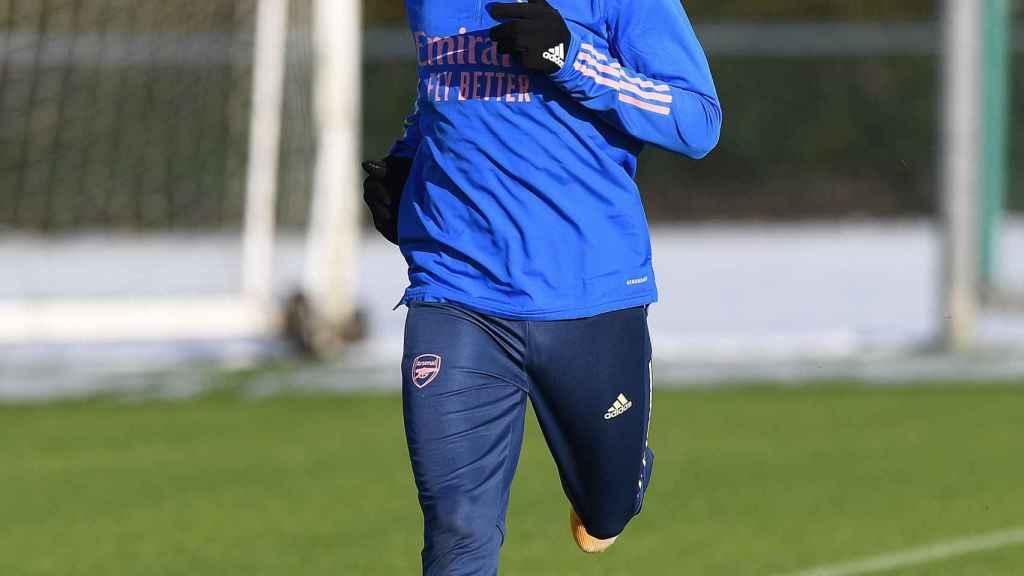 Odegaard, entrenando con el Arsenal