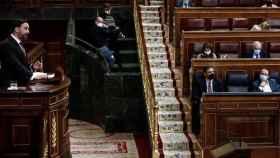 Abascal y Sánchez, en una sesión parlamentaria.