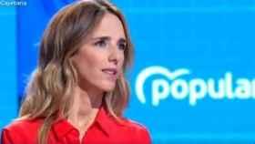 La diputada del Partido Popular en el Congreso, Cayetena Álvarez de Toledo, este jueves en TVE.