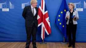 El primer ministro británico, Boris Johnson, y la presidenta de la Comisión, Ursula von der Leyen, en su última reunión en Bruselas