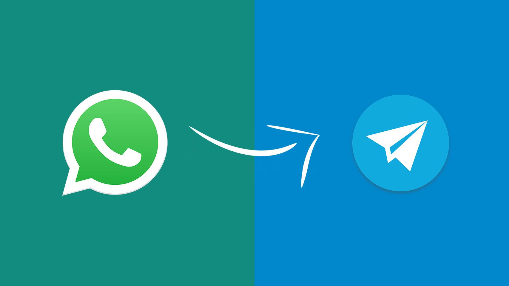 iconos de WhatsApp y Telegram.