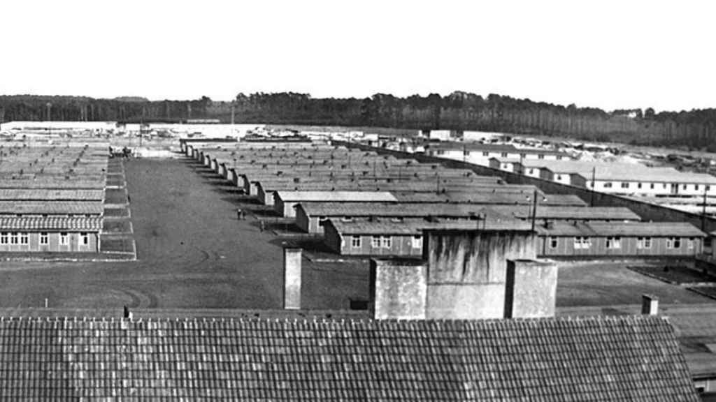 Vista del campo de extermino de Ravensbrück.