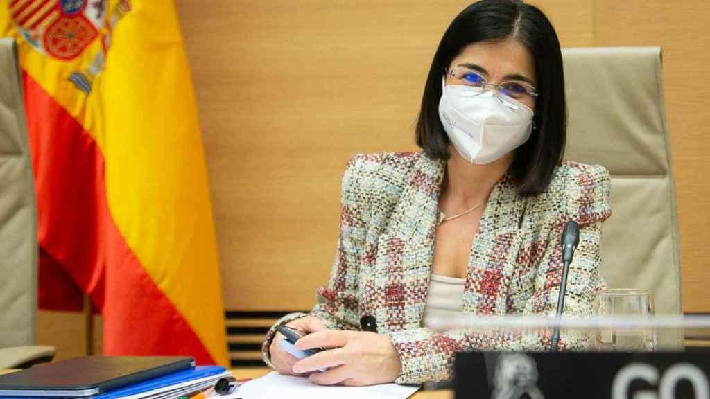 Carolina Darias durante su primera visita a la Comisión de Sanidad como ministra.
