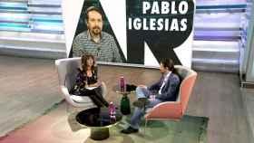 Pablo Iglesias siendo entrevistado por Ana Rosa Quintana en diciembre de 2018.
