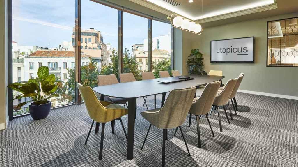 Sala de reuniones en Utopicus de la calle Francisco Silvela (Madrid).