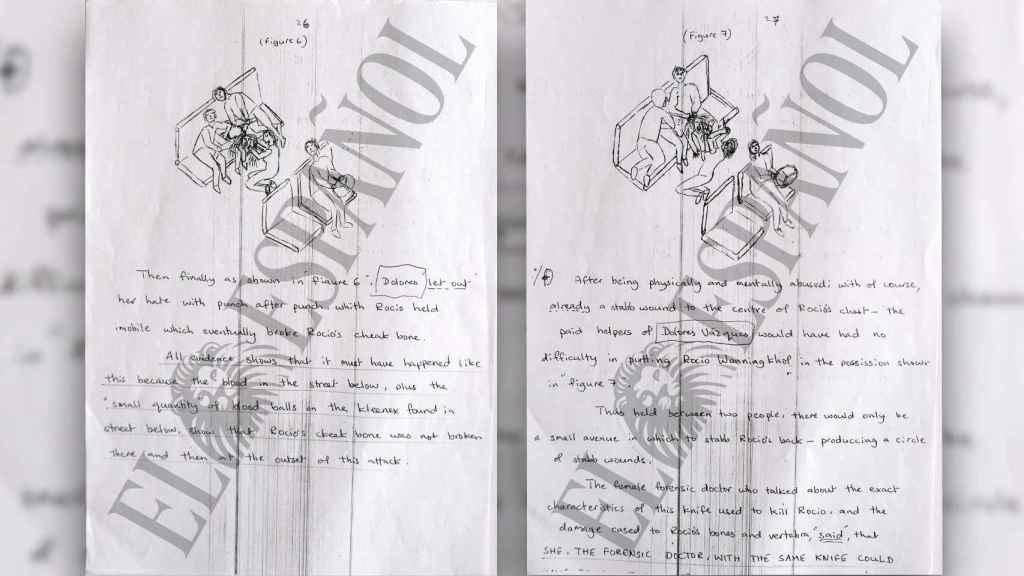 En la misiva, King dibuja y hace esquemas para explicar cómo fue el asesinato.