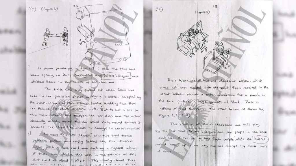 La carta está plagada con el nombre de Dolores Vázquez, intentando inculparla.