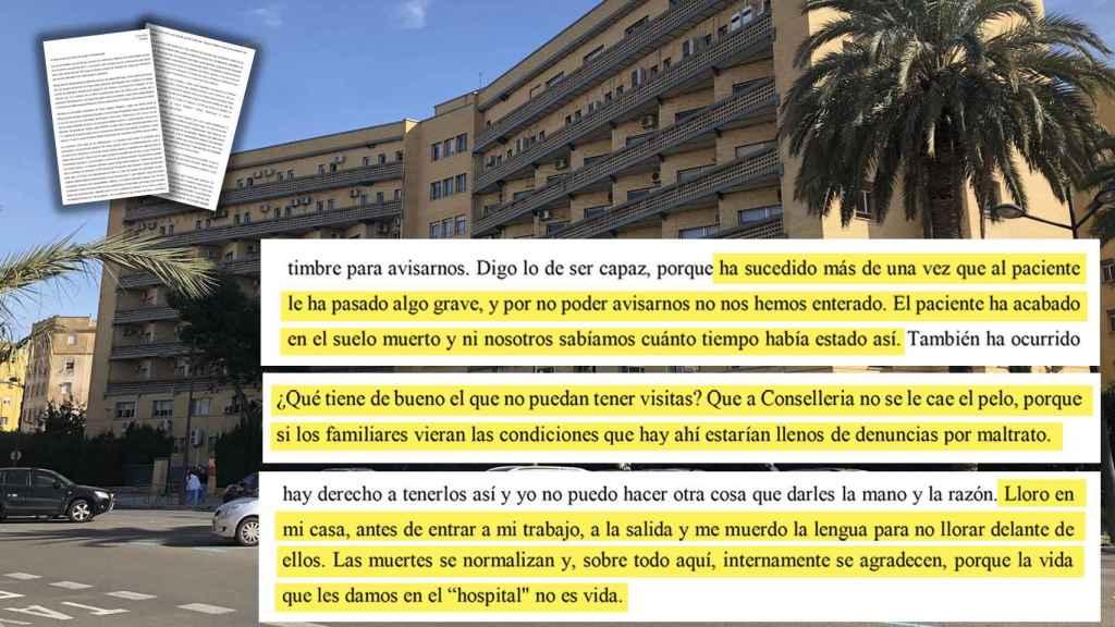 Extracto de la carta de la enfermera que denuncia el drama del viejo hospital La Fe. El Español