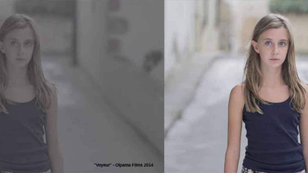 La imagen de la izquierda corresponde al color de la grabación real y a la derecha la correción automática del software de Lucid.