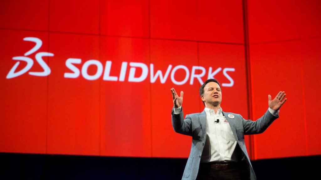 Gian Paolo Bassi, CEO de Solidworks, en el reciente evento 3D Experience World