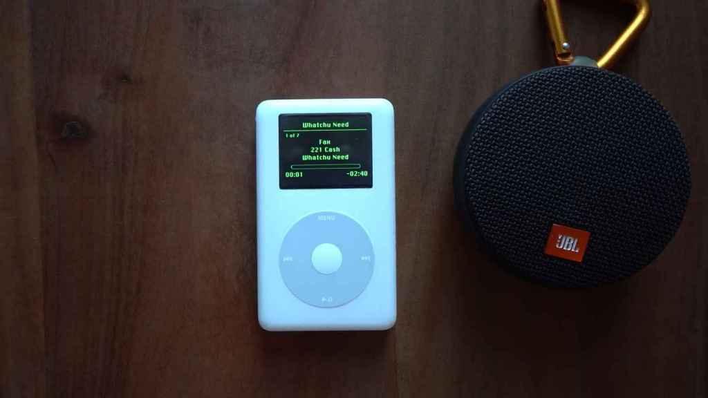 El iPod modificado con Spotify