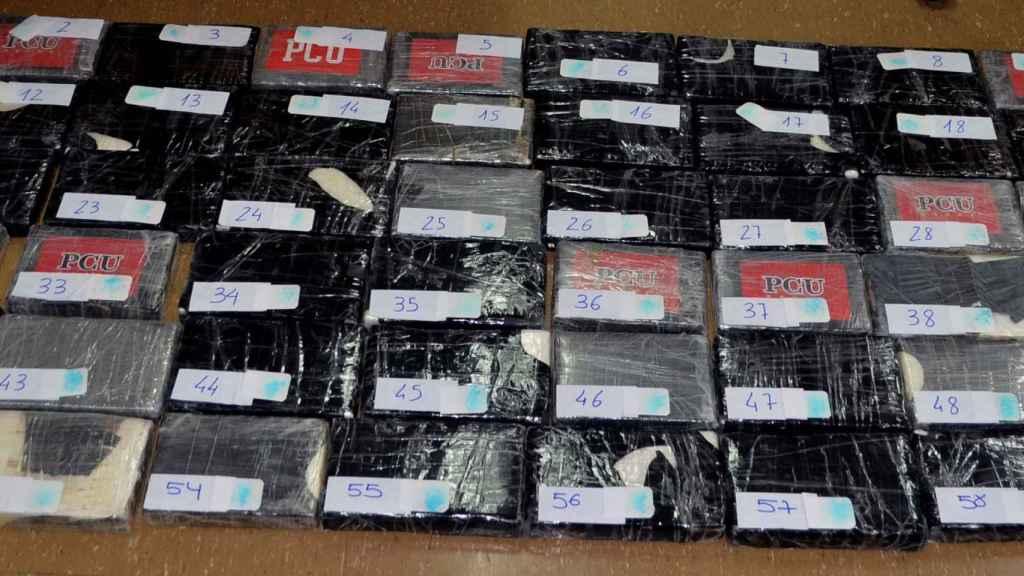 Un alijo de cocaína incautado dentro de la Operación SUELA-COLLECTION. Foto de archivo.