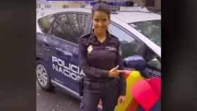 Captura del primer vídeo de la Policía Nacional en TikTok.