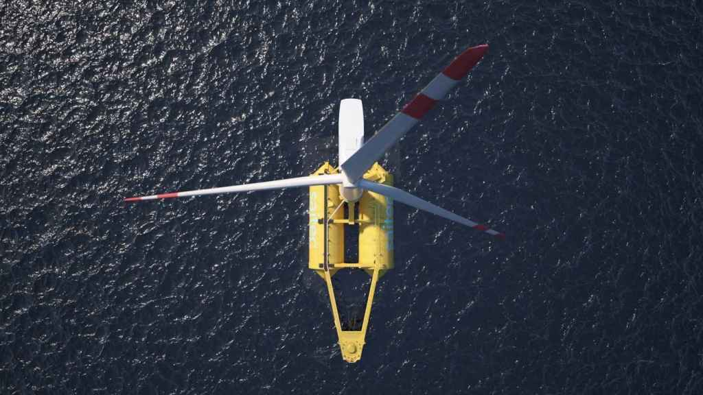 Prototipo de plataforma flotante de eólica marina de Saitec3