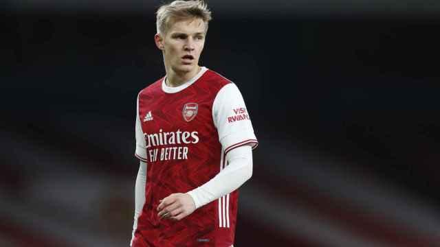 Martin Odegaard, en su debut como jugador del Arsenal